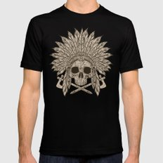 The Dead Chief Black LARGE Mens Fitted Tee
