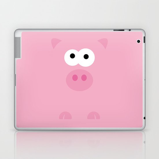 Minimal Pig Laptop & iPad Skin