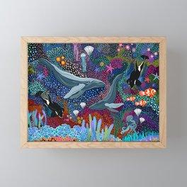 Whale Ocean Life Framed Mini Art Print