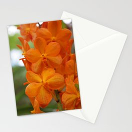 Orange Orchids Stationery Cards