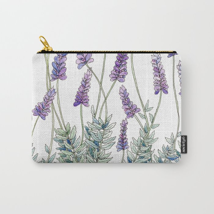 Lavender, Illustration Carry-All Pouch