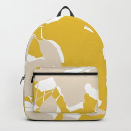 leave mustard yellow Backpack
