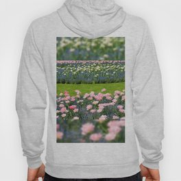 Pink Foxtrot tulips with blue forget-me-nots mix Hoody