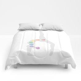 Chakra Centers Yoga Pose #128 Comforters