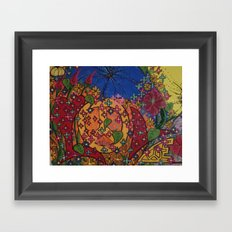 PEACE AND LOVE Framed Art Print