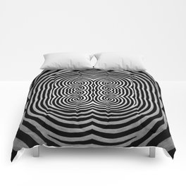Cronky Acid Black and White Comforters