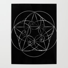 The sacred geometry Poster