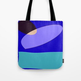Minimal With Blue Tote Bag