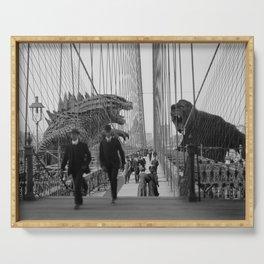 Old Time Godzilla vs. King Kong Serving Tray