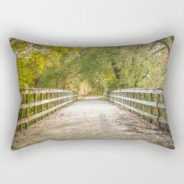 Autumn Day Walking through the Woods Rectangular Pillow