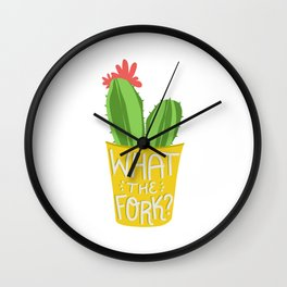 what the fork? cactus (The Good Place) Wall Clock