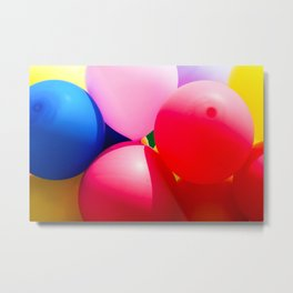 Colorful And Festive Toy Balloons Metal Print