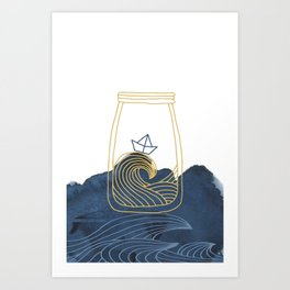Bottled Sea Art Print