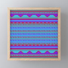 Mexican Aztec ethnic pattern Framed Mini Art Print
