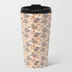 Opossum and Roses Metal Travel Mug