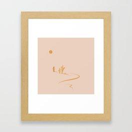 Three In The Sun Framed Art Print