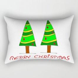 Christmas tree-pine,Yule-tree,Christmas,garlands,baubles,tinsel,evergreen,Star of Bethlehem, family Rectangular Pillow