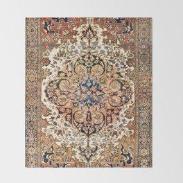 Ferahan Arak  Antique West Persian Rug Print Throw Blanket