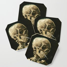 Van Gogh Head of a skeleton with a burning cigarette Coaster