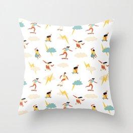 You go, girl pattern! Throw Pillow