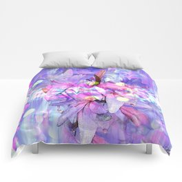 LILY IN LILAC AND LIGHT Comforters