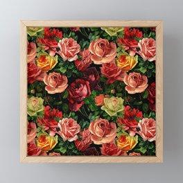 Vintage & Shabby chic - floral roses flowers rose Framed Mini Art Print