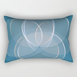 Blue Yoga Lotus Rectangular Pillow
