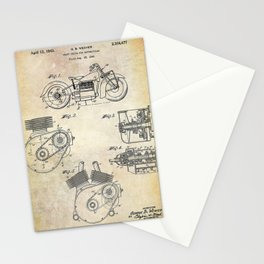 1943 Paper Indian Motor Company Drive Shaft for Motorcycles Patent Stationery Cards