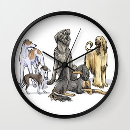 Graceful Sighthounds Wall Clock