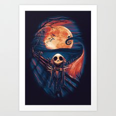 The Scream After Christmas Art Print