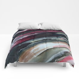 Abstract Ink Smear  Comforters
