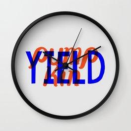 Yield, Pumpkin Wall Clock