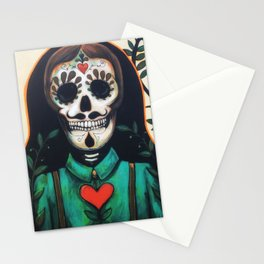 Love Always and Forever // Sugar Skull Day Dead Dia Muertos Creepy Cute Skeleton Stationery Cards