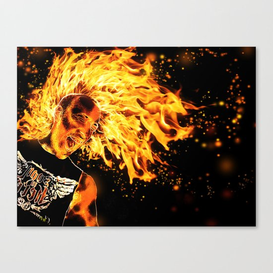 I am the Fire Starter. Canvas Print