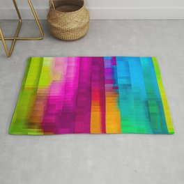Vertical Rainbow Color Palette Rug