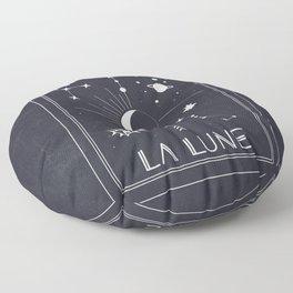 The Moon or La Lune Tarot Floor Pillow