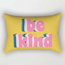 Be Kind Inspirational Anti-Bullying Typography Rectangular Pillow