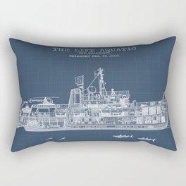 The Belafonte Blueprint Rectangular Pillow