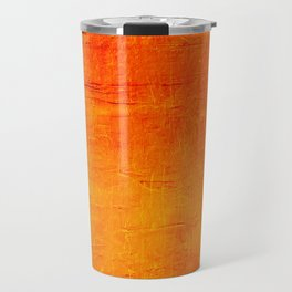 Orange Sunset Textured Acrylic Painting Travel Mug
