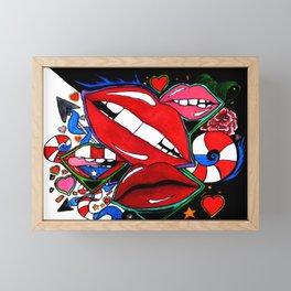 Lucious Lips Framed Mini Art Print