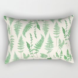 Ferns on Cream I - Botanical Print Rectangular Pillow