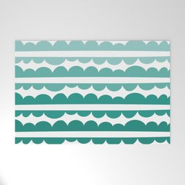Mordidas Gradient Green Welcome Mat