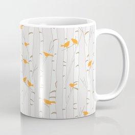 Birds & Birch - Orange Beige Coffee Mug