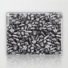 Aquatic I: White on Black Laptop & iPad Skin