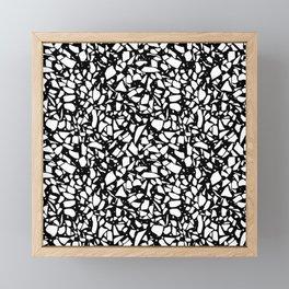 Terrazzo Spot 2 White on Black Framed Mini Art Print