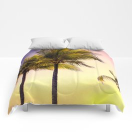 PURPLE AND GOLD SKIES 3 Comforters