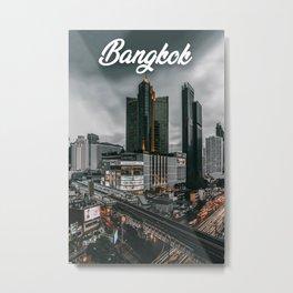 Bangkok Travel Photography, Bangkok Skyline, Bangkok Architecture Metal Print