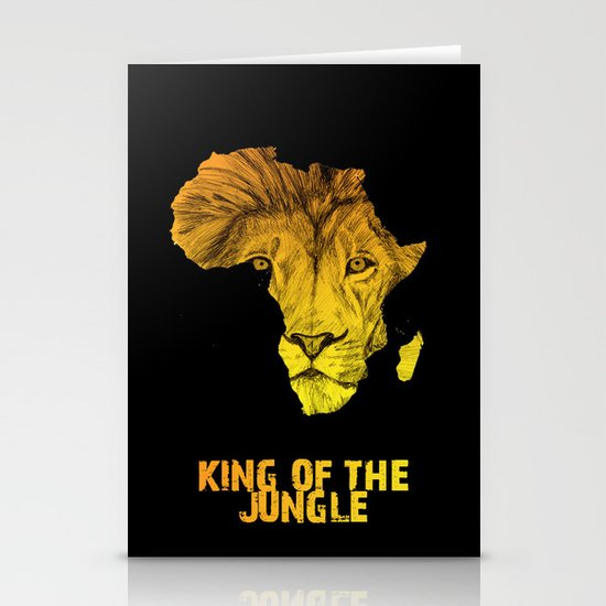 King Of The Jungle! Stationery Cards