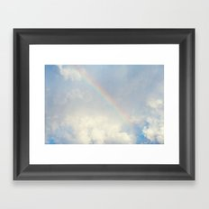 Over the rainbow you'll find me... Framed Art Print