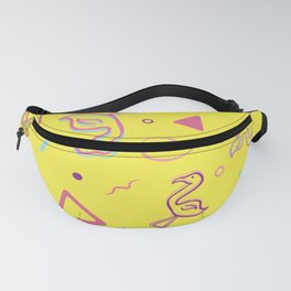 90s Flamingo Pattern Fanny Pack